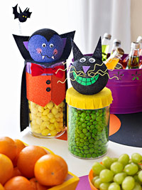 Decorated candy holders