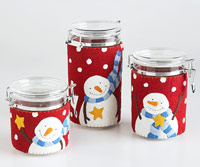 Snowmen painted candles