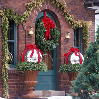 Outdoor with wreaths