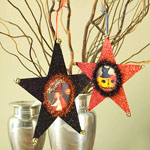 Star shaped halloween ornaments