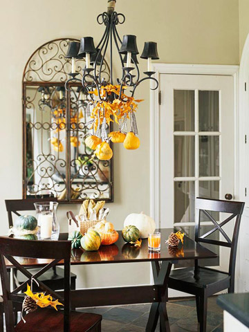 Pumpkin chandelier