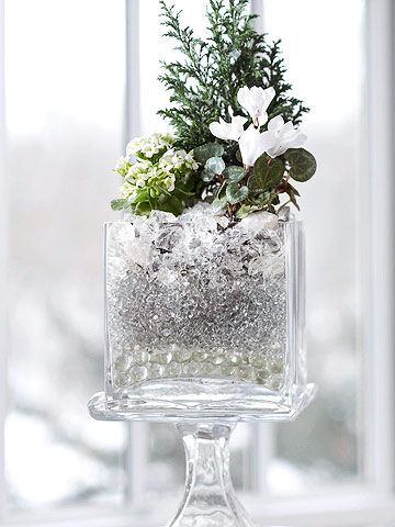 Wintery evergreen bouquet