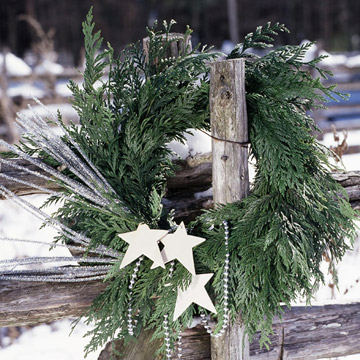 star wreath on gate