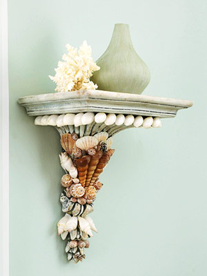 embellished shelf