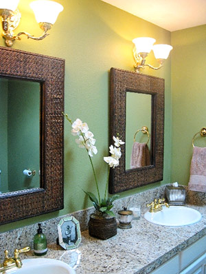 Designer for the day simply sarah style for Sage green bathroom