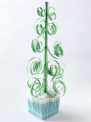 Green metal tree