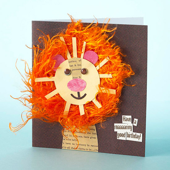 lion birthday card