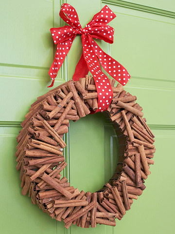 wreath of brown sticks