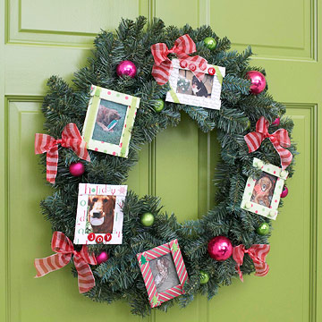pictures in wreath