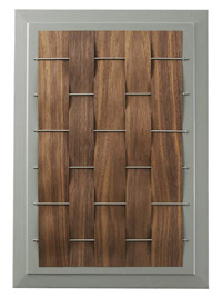 woven wood cabinet