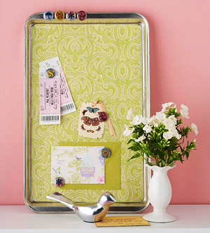 cookie sheet to magnetic board