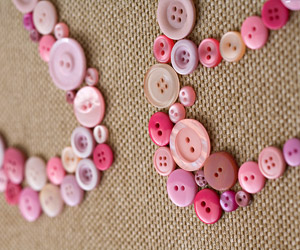 detail of button craft