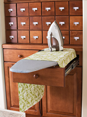 ironing board and cabinet