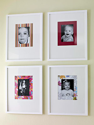 detail of kids photos