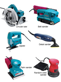 Sawing and Sanding tools