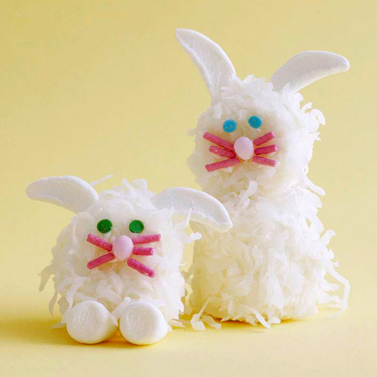 Marshmallow and coconut bunnies