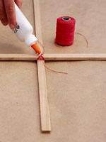 Gluing sticks together