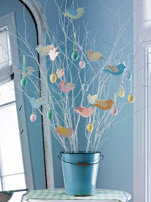 Spring/Easter tree, full shot