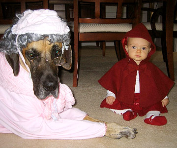 Little Red Riding Hood and Grandma costumes