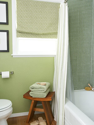 Shower and window treatment