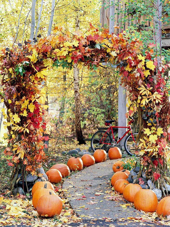 Arch of leaves
