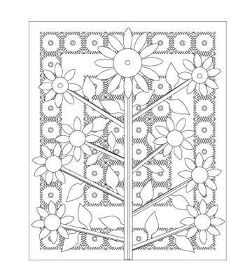 Abstract free coloring pages, geometric printables, and mandalas