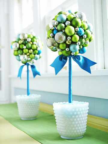 Glass Ball Topiary