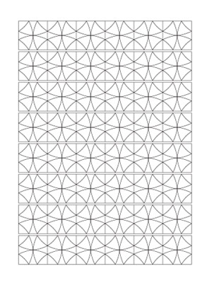 Print And Color Geometric Designs Coloring Pages 1