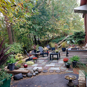 Life on maple grove budget friendly ideas for outdoor rooms for Garden makeover ideas on a budget