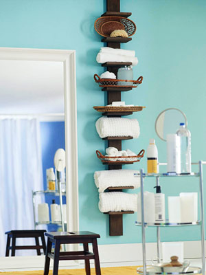 5 Small Bathroom Storage Ideas: Go Vertical | Fresh Digs