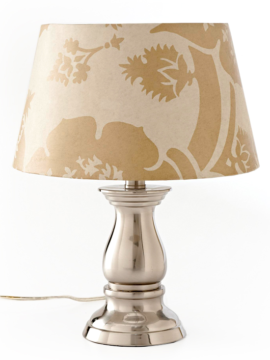 Wallpaper covered lampshade