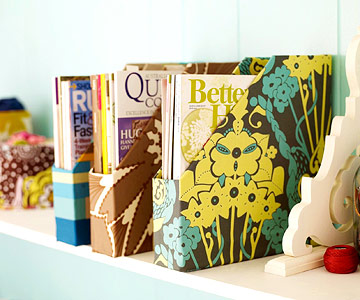 Fabric-covered magazine holders