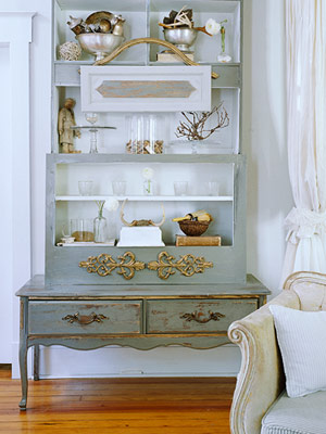 cabinet with blue inside