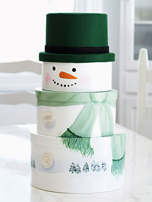 Stacked snowman