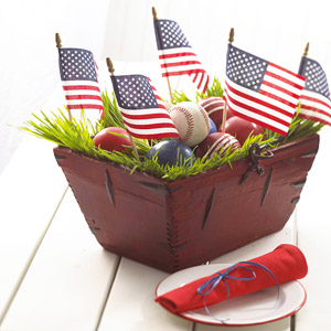 All-American Basket Centerpiece
