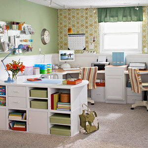 Overall of scrapbooking room