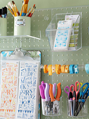 Scrapbook supply storage