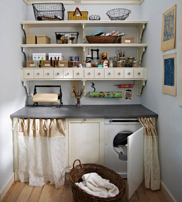 Shelving unit as craft station