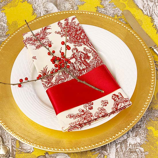 Red and Gold plate