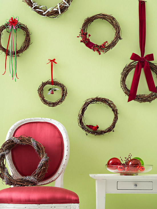 Hanging wreaths