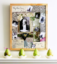 Heritage scrapbook frame wall art