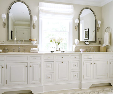 White Bathroom Cabinets