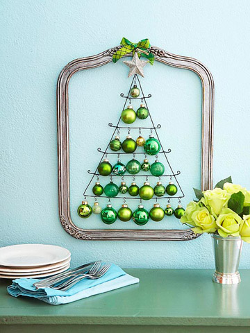 Green ball Christmas tree