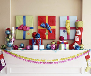 Presents above mantel