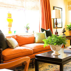 Orange Living room overall