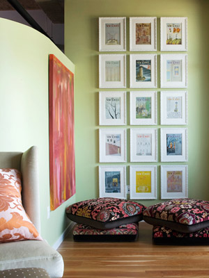 Large wall art display