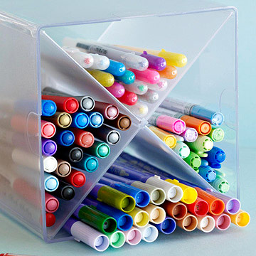 Pen and marker storage