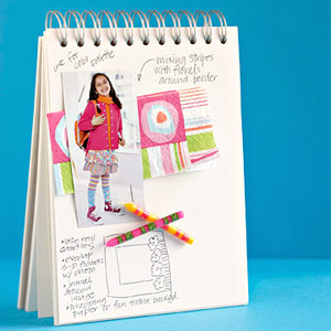 Inspiration notebook for craft ideas