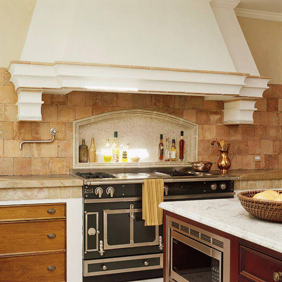 Limestone Backsplash