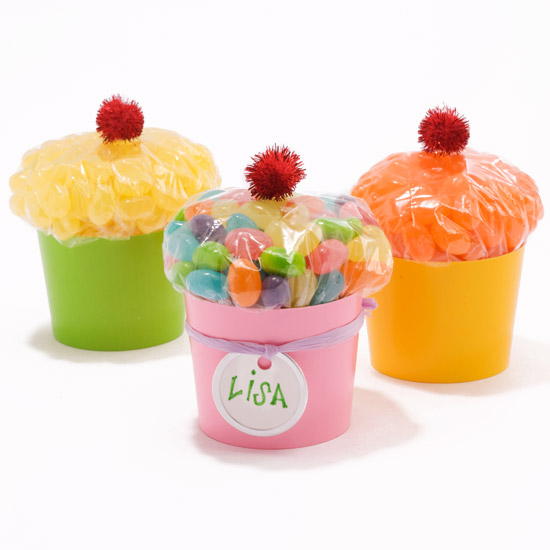 Candy in cups made to imitate cupcakes